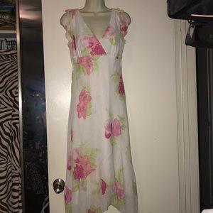 Byer Too! Dresses - Byer Too! Size 9 flower print long dress hi low